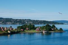 Vista costiera di Oslo, Norvegia Fotografia Stock