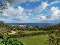 Vista costiera di St Ives, Cornovaglia fotografia stock