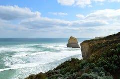 Vista costiera lungo la grande strada dell'oceano Immagine Stock Libera da Diritti