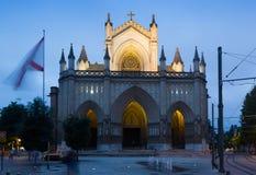 Vista crepuscolare della cattedrale di Mary Immaculate Fotografie Stock Libere da Diritti