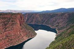 Vista Czerwony jar w Płomiennym wąwozie, Utah obraz royalty free