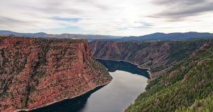 Vista Czerwony jar w Płomiennym wąwozie, Utah obrazy royalty free