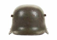 Vista d'acciaio del frontale del casco di combattimento di guerra mondiale quella tedesca Immagine Stock Libera da Diritti