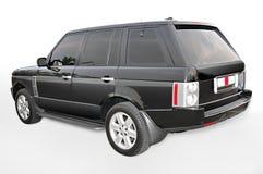Vista d'angolo nera della Range Rover Immagini Stock Libere da Diritti