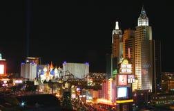 Vista d'annata della striscia nuovo York-nuovo York di Las Vegas Immagini Stock
