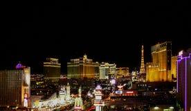 Vista d'annata della striscia nuovo York-nuovo York di Las Vegas Fotografia Stock