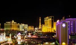 Vista d'annata della striscia Parigi U.S.A. di Las Vegas Fotografia Stock Libera da Diritti