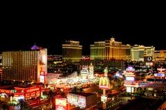 Vista d'annata della striscia U.S.A. di Las Vegas Fotografia Stock