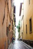 Vista d'annata della via dell'Italia Florence Firenze fotografia stock libera da diritti