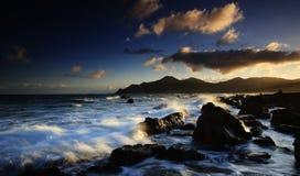 Vista d'ardore delle nubi di tramonto Immagine Stock Libera da Diritti