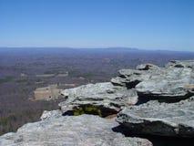Vista d'attaccatura della roccia Fotografia Stock
