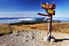 Vista d'autunno dalle montagne del rohace Fotografie Stock Libere da Diritti