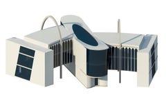 vista 3d da construção comercial Imagens de Stock