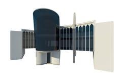 vista 3d di costruzione commerciale Fotografia Stock