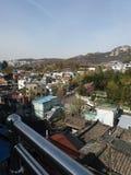 Vista da área de Bukcheon em Seoul Foto de Stock Royalty Free