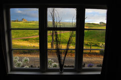 Vista da área rural da janela Foto de Stock Royalty Free