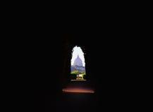Vista da abóbada do ` s de St Peter através do buraco da fechadura Imagem de Stock Royalty Free