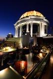 Vista da abóbada na barra do céu de Lebua, Banguecoque Tailândia Imagens de Stock Royalty Free