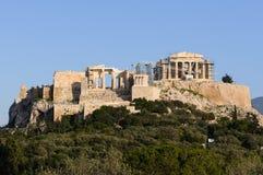 Vista da acrópole de Atenas, Grécia Imagens de Stock Royalty Free