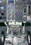 Vista da alavanca da pressão dos aviões Foto de Stock Royalty Free