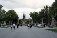 Vista da Arc de Triomf a Barcellona Spagna fotografia stock libera da diritti