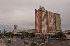 Vista da avenida de Avenida Presidente Vargas em Rio de janeiro durante o carnaval Foto de Stock Royalty Free