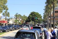 Vista da avenida dos Olas de Las, Ft Lauderdale Fotografia de Stock Royalty Free