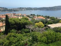 Vista da ba?a bonita em Villefranche-sur-Mer fotos de stock royalty free