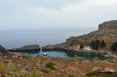 Vista da baía de Anthony Quinn imagens de stock