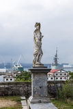 Vista da baía de Ferrol do parque de San Francisco Imagens de Stock Royalty Free