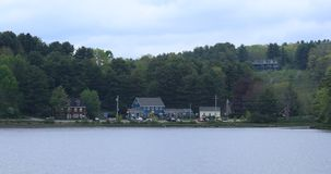 Vista da baía de Mahone, Nova Scotia 4K filme