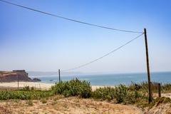 Vista da baía de Nazaré Fotografia de Stock Royalty Free
