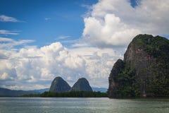 Vista da baía de Phang Nga Imagens de Stock
