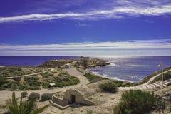 Vista da baía espanhola imagens de stock royalty free
