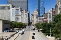 Vista da baixa da cidade de Chicago, no estado de Illinois, EUA Imagens de Stock Royalty Free