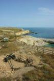 Vista da bateria de 35 batalhas crimeia Fotografia de Stock Royalty Free