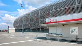 Vista da bilheteira nova do estádio de futebol de Pierre Mauroy Foto de Stock Royalty Free