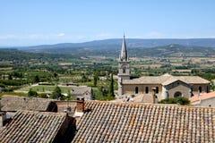 Vista da Bonnieux, Francia Immagine Stock