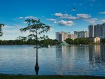 A vista da borda do lago fotos de stock