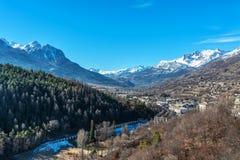 Vista da Briancon in Hautes-Alpes, Francia Immagini Stock Libere da Diritti