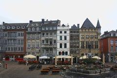 Vista da câmara municipal de Aix-la-Chapelle fotos de stock