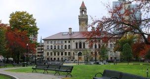 Vista da câmara municipal de Worcester em Massachusetts fotografia de stock royalty free