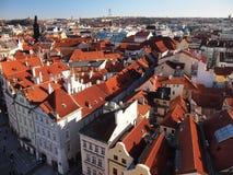 Vista da câmara municipal velha (Praga, República Checa) Foto de Stock Royalty Free