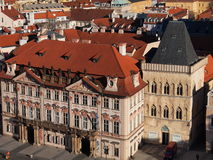 Vista da câmara municipal velha (Praga, República Checa) Imagem de Stock