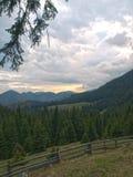 Vista da cabana Curmatura Imagens de Stock Royalty Free