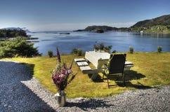 Vista da cabine em Noruega ocidental Imagem de Stock
