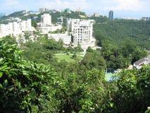 Vista da caminhada do regulador, Victoria Peak, Hong Kong foto de stock royalty free