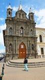 A vista da capela episcopal construída antes do terremoto de 1868, é ficada situada em um lado da catedral Imagem de Stock