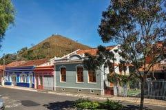 A vista da casa típica da arquitetura da região em Monte Alegre faz Sul Fotografia de Stock Royalty Free