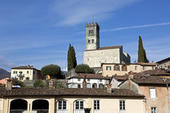 Vista da catedral de Barga Fotografia de Stock Royalty Free